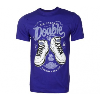 Jordan Double Up Tee Bleu