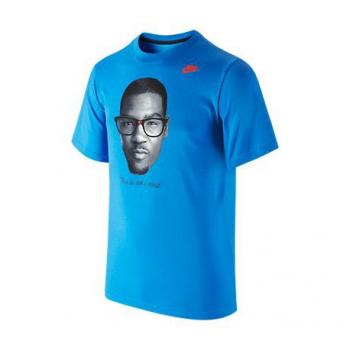 Nike Tee-Shirt KD IS NOT A NERD Bleu