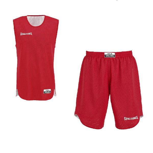 Spalding Kit Reversible Jr rouge/blanc