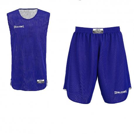 Spalding Kit Reversible Jr bleu/blanc
