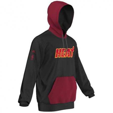 Adidas NBA Fleece Hoody Miami HEAT
