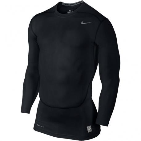 Nike Pro Combat Core LS Top Noir
