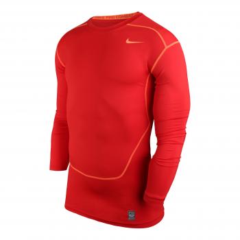Nike Pro Combat Core LS Top Rouge