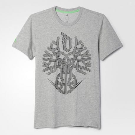Adidas Tee-Shirt DAME Roots Gris