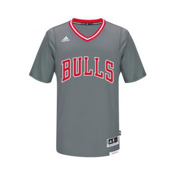 Adidas Maillot Replica Manches Bulls Gris
