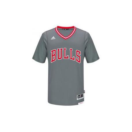 Adidas Maillot Replica Manches Bulls Gris