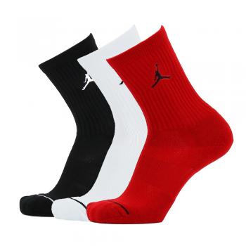 Jordan Chaussettes Jumpman 3 PPK Noir/Blanc/Rouge