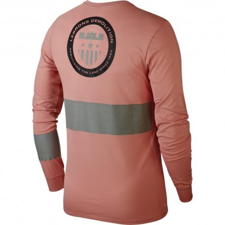 Nike T-Shirt ML Dry Lebron Rust Pink