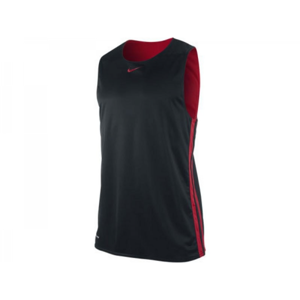 Nike new hustle reversible tank black/red