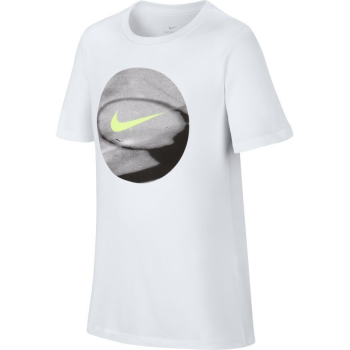 Nike T-Shirt Enfant Dry Photoball Blanc