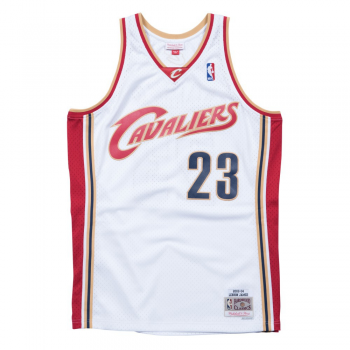 Swingman NBA Lebron James Cavaliers White Mitchell&Ness