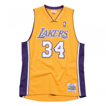 SWINGMAN NBA SHAQUILLE O'NEAL LAKERS YEL/PUR MITCHELL&NESS
