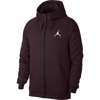 Jordan Sweat Sportswear Jumpman Air Fleece FZ burgundy