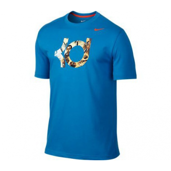 Nike KD Logo Tee Bleu