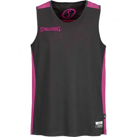 Spalding essential reversible shirt Noir/Rose