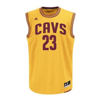 Adidas maillot replica Lebron JAMES Cleveland Cavs Jaune
