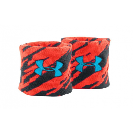 UA Jacquard Wristband Noir/Rouge