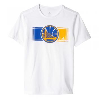 Adidas Tee-Shirt Enfant Golden State Warriors Blanc