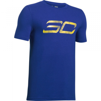 Under Armour T-Shirt Jr SC30 Logo bleu
