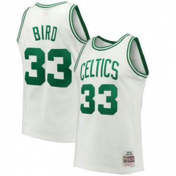 SWINGMAN NBA LARRY BIRD CELTICS BLANC MITCHELL&NESS