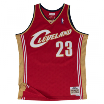 Swingman NBA Lebron James Cavaliers Red/Gold Mitchell&Ness
