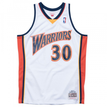 Swingman NBA Stephen Curry Warriors Blanc Mitchell&Ness