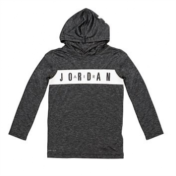 Jordan Kid Dri-Fit LS Panel Gris