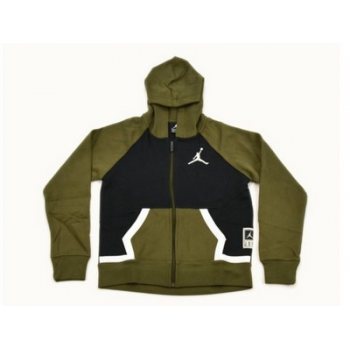 Jordan Kid Diamond Fleece FZ Hoodie Olive Canvas