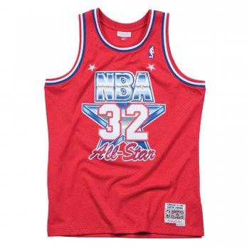 Swingman NBA ALL-STAR Magic Johnson Rouge