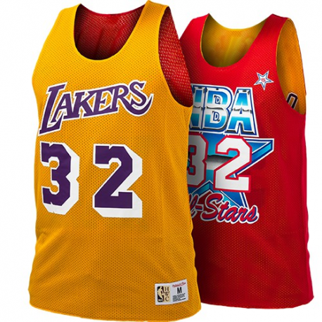 NBA Reversible Mesh Tank Top Magic Johnson All Star 1991