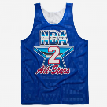 NBA Reversible Mesh Tank Top Larry Johnson All Star 1993