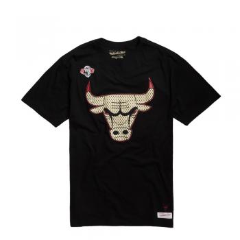 Gold Logo Tee Bulls Noir Mitchell&Ness